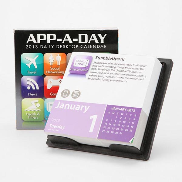 App-A-Day Desktop Calendar 2013