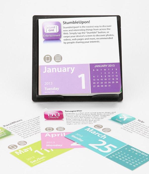 App-A-Day Desktop Calendar 2013