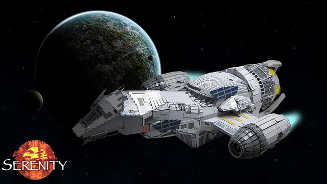 Awesome 7-Foot LEGO Serenity Model