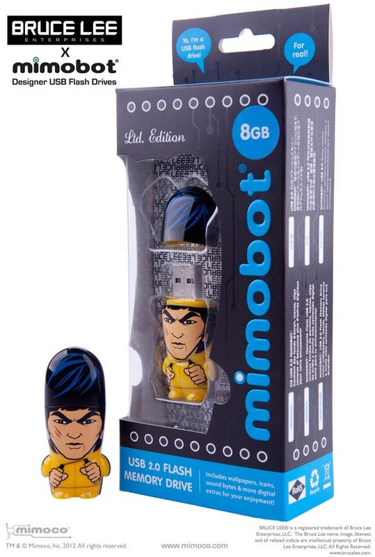 Bruce Lee Mimobot Designer USB Flash Drive