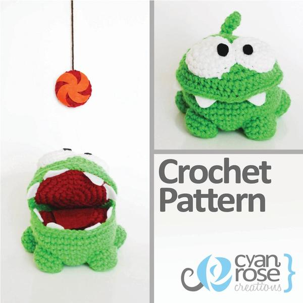 Cut the Rope Om Nom Crochet Pattern