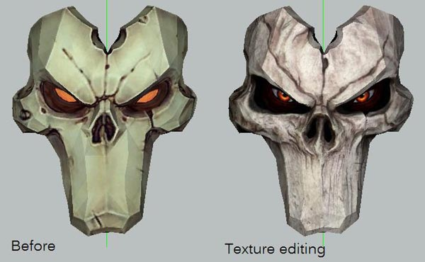 Darksiders II Death Mask Paper Craft