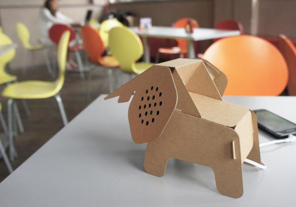 D I Y Eco Animal Shaped Cardboard Gadgets Gadgetsin