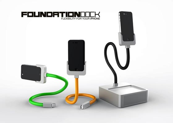 Foundation iPhone Docking Station with Flexible Charging Cable