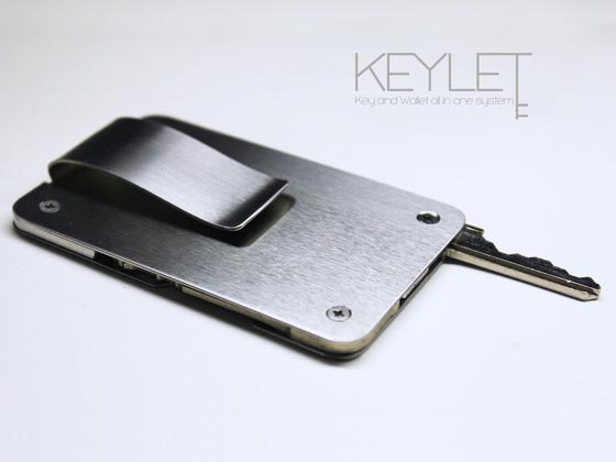 Keylet Minimal Money Clip with Keychain