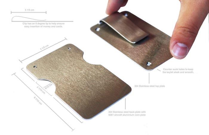 Keylet Minimal Money Clip with Keychain