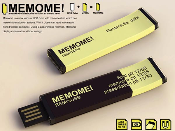 MEMOME! Concept USB Flash Drive