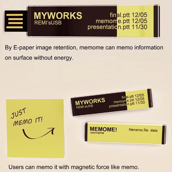 MEMOME! Concept USB Flash Drive
