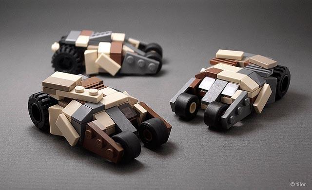 Minimalistic LEGO Batmobiles