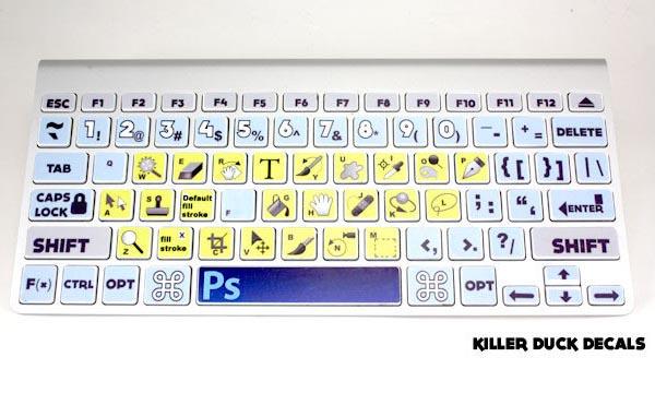 Photoshop CS5 MacBook Keyboard Skin Set