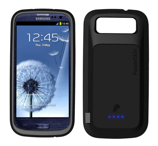 PowerSkin Samsung Galaxy S3 Case with Backup Battery