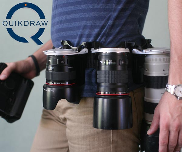 Quickdraw DSLR Camera Lens Holster
