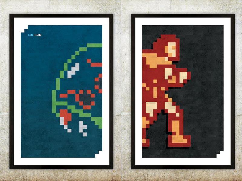 Retro NES Video Game Inspired Poster Set | Gadgetsin
