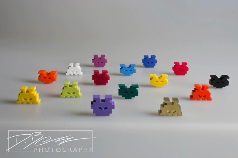 Space Invaders Fridge Magnet Set