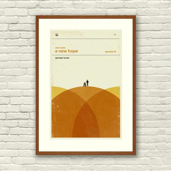 Star Wars Inspired Art Print Movie Poster Set