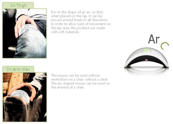 The Arc Wireless Mouse Not Only for Flat Surface