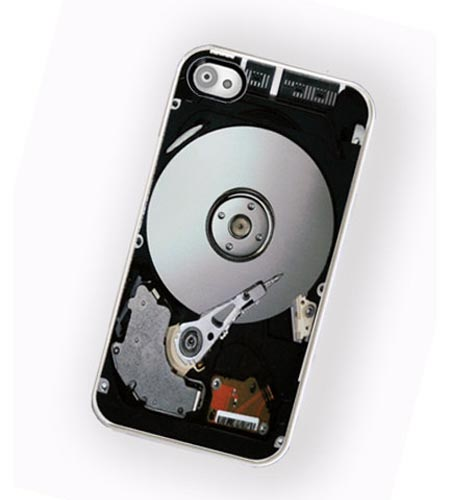 The Uncovered Hard Disk Drive iPhone 4 Case