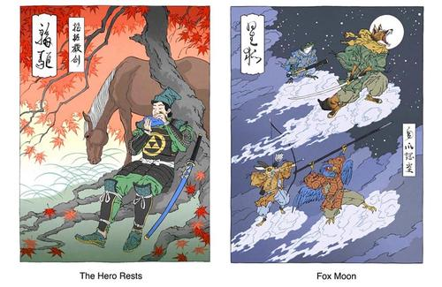 Ukiyo-e Heroes Print Set