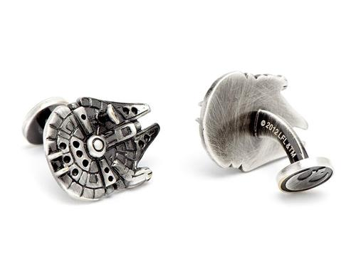 Star Wars Palladium Plated Millennium Falcon Cufflinks