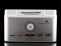 The Dual HDD Docking Station with USB Hub and Card Reader