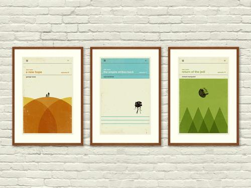 Star Wars Inspired Art Print Movie Poster Set