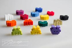 Space Invaders Fridge Magnet Set