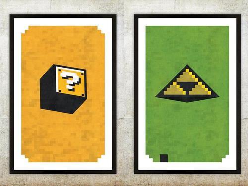 Retro NES Video Game Inspired Poster Set