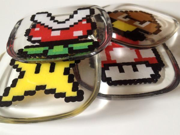Another Handmade Super Mario Bros Coaster Set