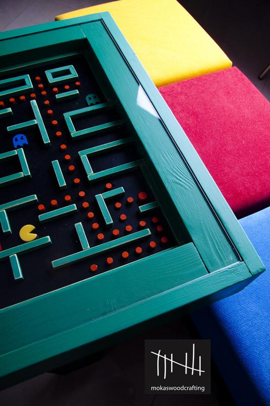 Awesome Wood Pac-Man Table
