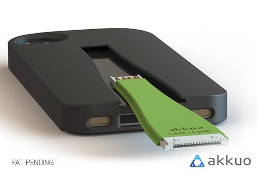 CASE:Lynk Charging Cable Integrated Protective Case for iPhone 5 & 4/4S