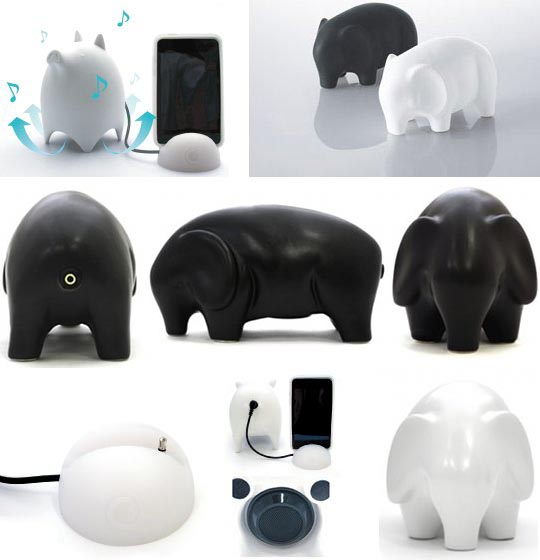 Ceramic Elephant Portable Speaker
