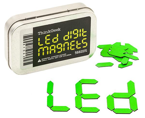 LED Digit Fridge Magnet Set
