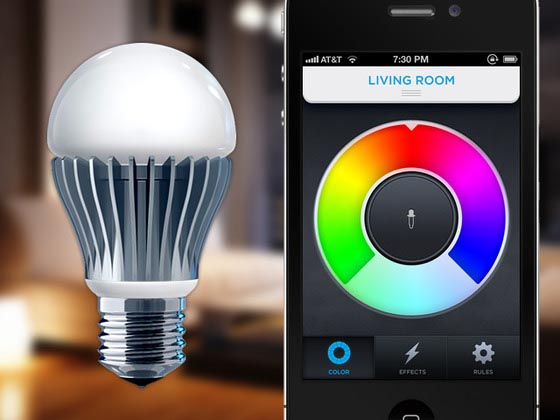 Lifx light bulb controlled by smartphones gadgetsin - Control lights with smartphone ...