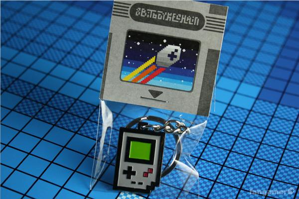Retro Game Console Themed Keychains