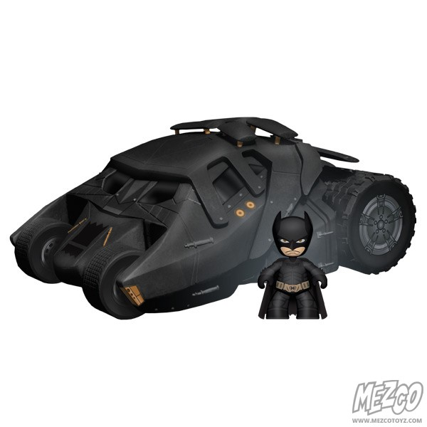 The Dark Knight Mez-Itz Batmobile and Batman Figure