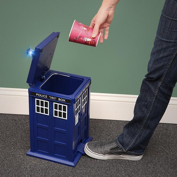 The Doctor Who TARDIS Trash Can