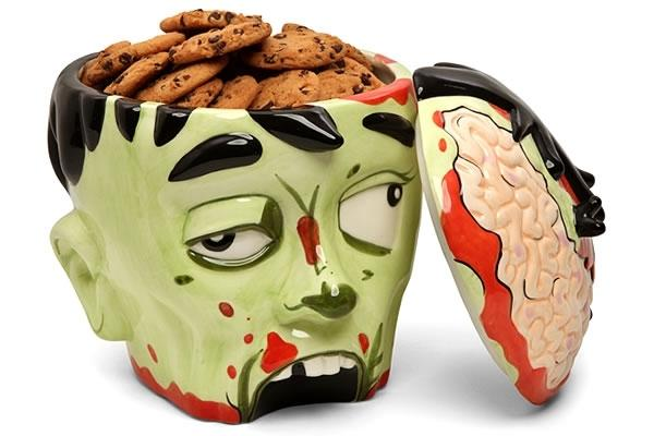 Zombie Head Shaped Cookie Jar