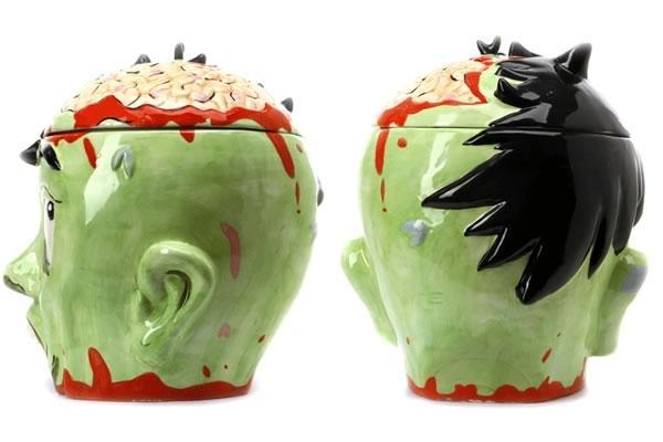 Zombie Head Shaped Cookie Jar