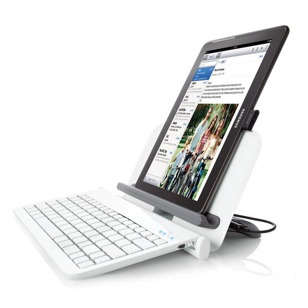 Bluetooth Tablet Station with Wireless Keyboard and USB Ports