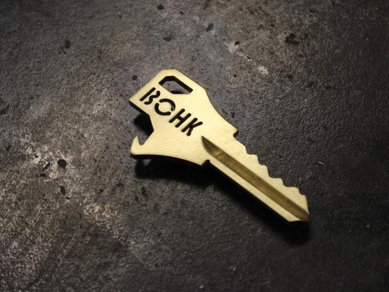 BOHK House Key with Integrated Bottle Opener