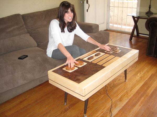 Handmade Nintendo Controller Coffee Table
