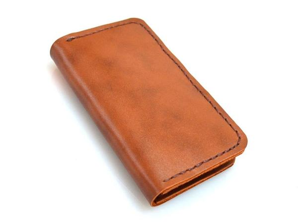 Leather Iphone 5 Case Wallet Handmade wallet styled leather iphone 5 ...