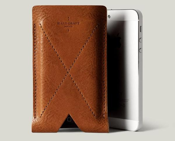 Hard Graft Leather iPhone 5 Card Case