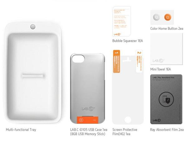 LABC 105 iPhone 5 Case with Removable USB Flash Drive
