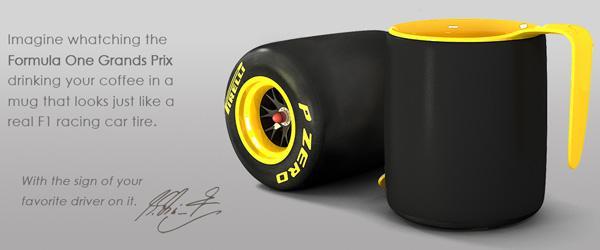 Pirelli Coffee Mug for F1 Racing Fans