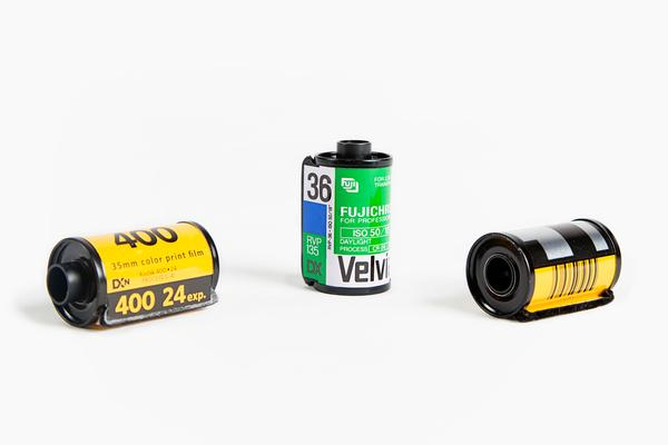 Recycled Film Roll Fridge Magnet Set