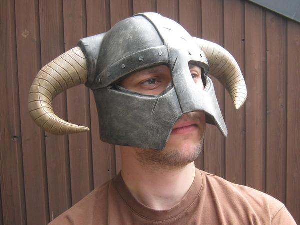 The Elder Scrolls V Skyrim Dragonborn Iron Helmet Replica