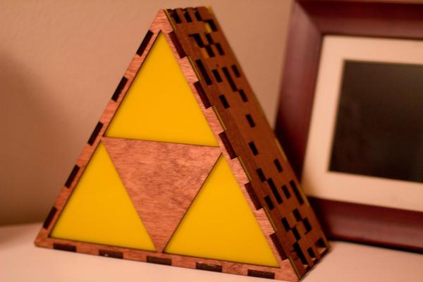 The Legend of Zelda Triforce Shaped Table Lamp