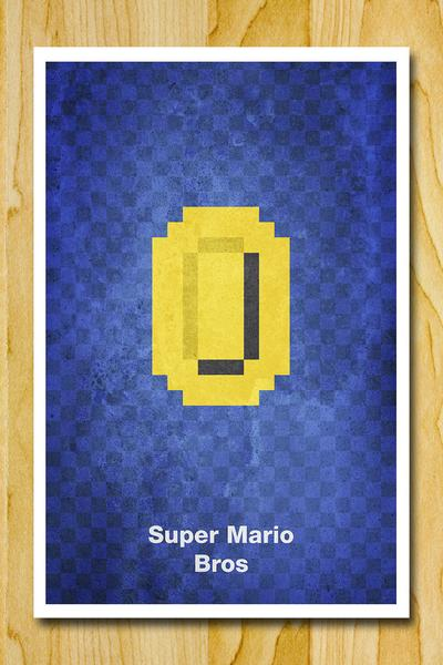 The Minimalist 8-Bit Video Game Poster Set