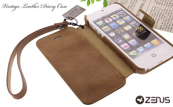 ZENUS Prestige Vintage Leather iPhone 5 Case
